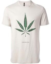 T-shirt à col rond imprimé beige