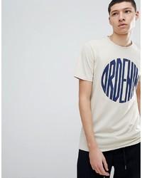 T-shirt à col rond imprimé beige Dr. Denim