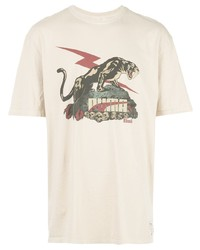 T-shirt à col rond imprimé beige Puma