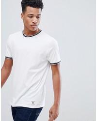 T-shirt à col rond imprimé blanc et noir Abercrombie & Fitch