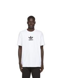 T-shirt à col rond imprimé blanc et noir adidas Originals