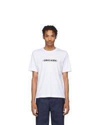 T-shirt à col rond imprimé blanc et noir Carne Bollente