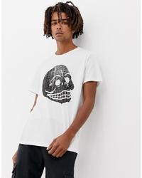 T-shirt à col rond imprimé blanc et noir Cheap Monday