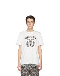 T-shirt à col rond imprimé blanc et noir Dolce and Gabbana