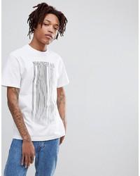 T-shirt à col rond imprimé blanc et noir FAIRPLAY