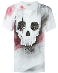 T-shirt à col rond imprimé blanc et noir Faith Connexion