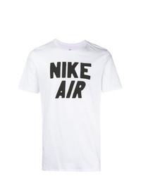 T-shirt à col rond imprimé blanc et noir Nike