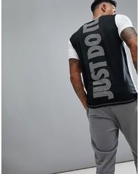 T-shirt à col rond imprimé blanc et noir Nike Training
