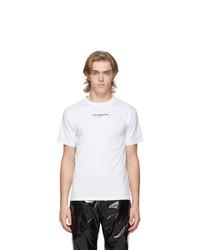 T-shirt à col rond imprimé blanc et noir Ottolinger