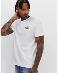 T-shirt à col rond imprimé blanc et noir Puma