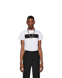 T-shirt à col rond imprimé blanc et noir Random Identities