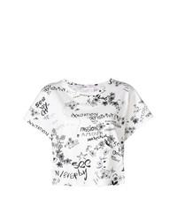 T-shirt à col rond imprimé blanc et noir See by Chloe