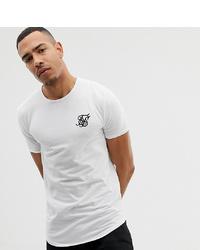 T-shirt à col rond imprimé blanc et noir Siksilk