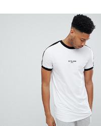 T-shirt à col rond imprimé blanc et noir Sixth June