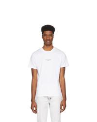 T-shirt à col rond imprimé blanc et noir Stella McCartney
