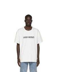 T-shirt à col rond imprimé blanc et noir Vyner Articles