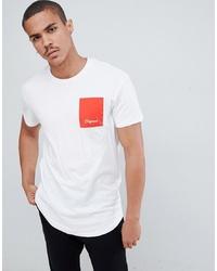 T-shirt à col rond imprimé blanc et rouge Jack & Jones