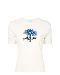 T-shirt à col rond imprimé blanc Alyx