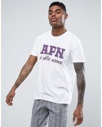 T-shirt à col rond imprimé blanc APN