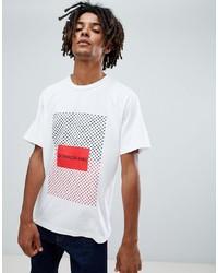 T-shirt à col rond imprimé blanc Calvin Klein Jeans