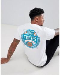 T-shirt à col rond imprimé blanc Cheats & Thieves