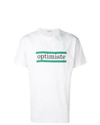 T-shirt à col rond imprimé blanc Closed