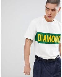 T-shirt à col rond imprimé blanc Diamond Supply