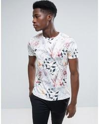 T-shirt à col rond imprimé blanc Esprit