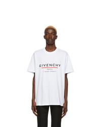 T-shirt à col rond imprimé blanc Givenchy
