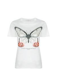 T-shirt à col rond imprimé blanc Golden Goose Deluxe Brand