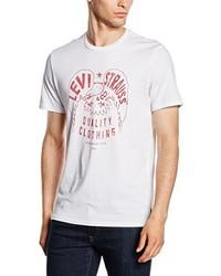 T-shirt à col rond imprimé blanc Levi's