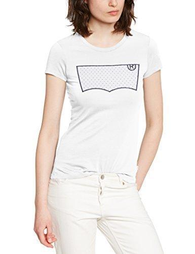 e22ebcedd081 ... T-shirt à col rond imprimé blanc Levi s ...