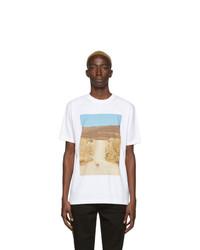 T-shirt à col rond imprimé blanc Marcelo Burlon County of Milan