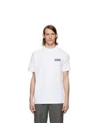 T-shirt à col rond imprimé blanc Martine Rose
