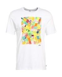 T-shirt à col rond imprimé blanc Nike