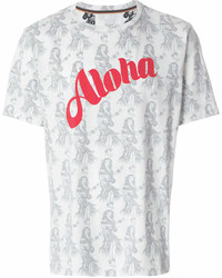 T-shirt à col rond imprimé blanc Paul Smith