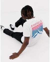 T-shirt à col rond imprimé blanc Penfield