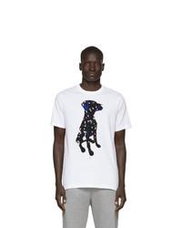 T-shirt à col rond imprimé blanc Ps By Paul Smith