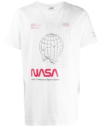 T-shirt à col rond imprimé blanc Puma