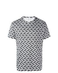 T-shirt à col rond imprimé blanc Salvatore Ferragamo