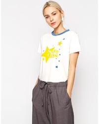 T-shirt à col rond imprimé blanc See by Chloe