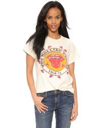 T-shirt à col rond imprimé blanc