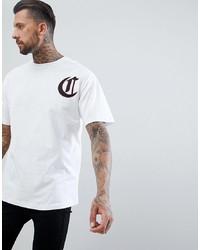 T-shirt à col rond imprimé blanc The Couture Club