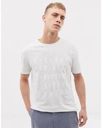 T-shirt à col rond imprimé blanc Tiger of Sweden Jeans