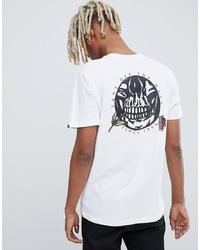 T-shirt à col rond imprimé blanc Vans