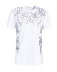 T-shirt à col rond imprimé blanc Versace