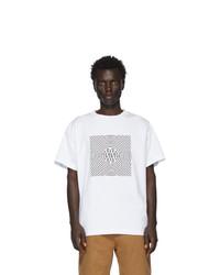 T-shirt à col rond imprimé blanc Vyner Articles