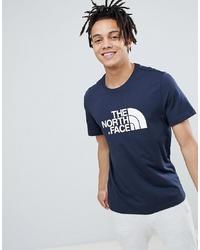 T-shirt à col rond imprimé bleu marine et blanc The North Face