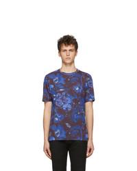 T-shirt à col rond imprimé bleu marine Paul Smith