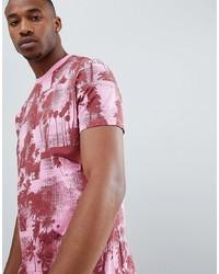 T-shirt à col rond imprimé fuchsia ASOS DESIGN